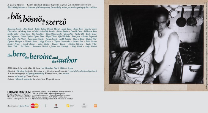 the hero the heroine and the author | a hős a hősnő és a szerző, invitation card