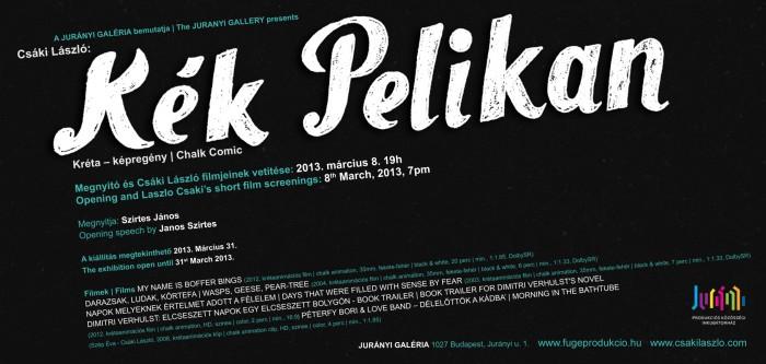 Kék Pelikan | Blue Pelikan meghívó | invitation