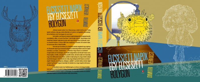 Cover of Dimitri Verhulst's novel, Godverdomse dagen op een godverdomse bol