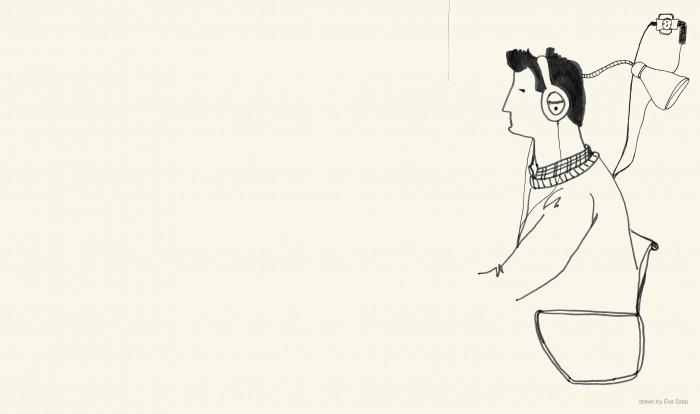 portrait drawing by Éva Szép, 2012