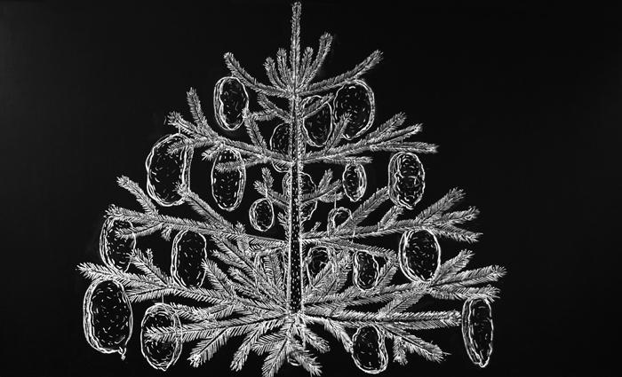 Melegszendviccsel diszített karácsonyfa | Christmas Tree Decorated with Grilled Sandwiches