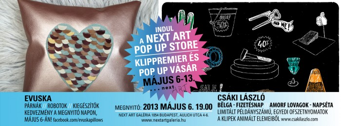 Next Art Pop Up Store meghivo